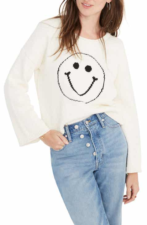 66ef7ff52c Madewell Brownstone Smiley Face Pullover
