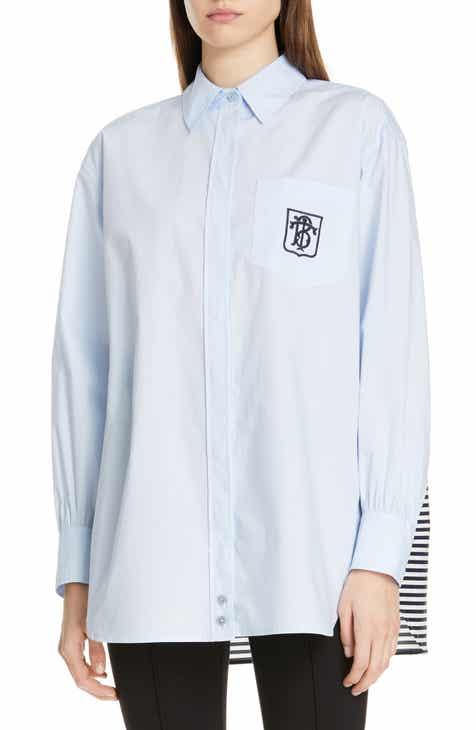 7fa245bc7c Tory Burch Stripe Back Button-Up Shirt