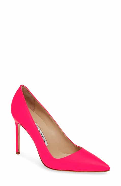 Manolo Blahnik  BB  Pointy Toe Pump (Women) 9b8c6280c