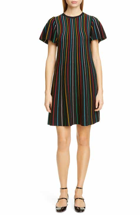 fcd59570216 RED Valentino Rainbow Stripe Shift Dress. Was  695.00. Now  347.4950% off