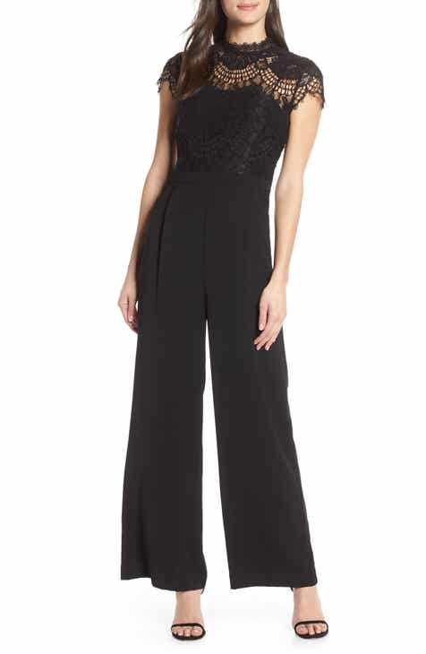 Ever New Lace & Crepe Jumpsuit by EVER NEW