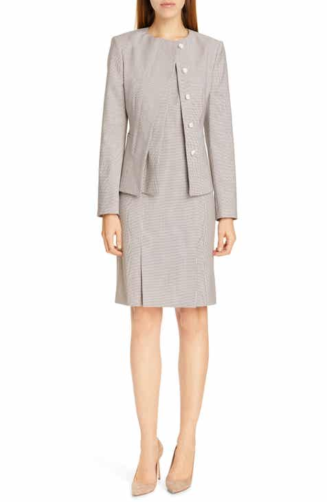 BOSS Jadela Mini Houndstooth Wool Suit Jacket (Regular & Petite) by BOSS HUGO BOSS