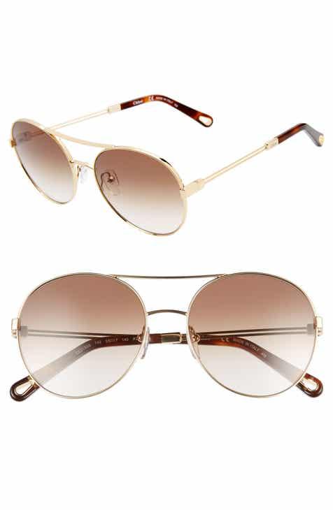 844eaf79554 Chloé Jacky 55mm Gradient Aviator Sunglasses