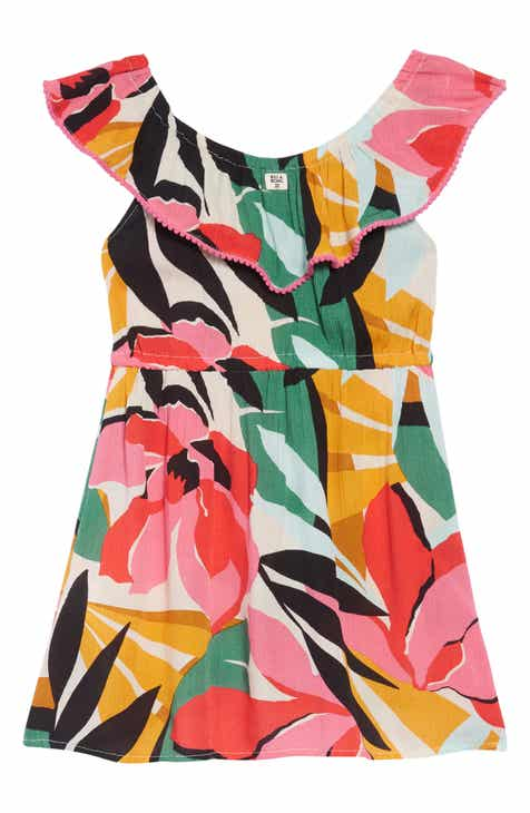 Billabong Under the Palms Ruffle Dress (Little Girls & Big Girls)