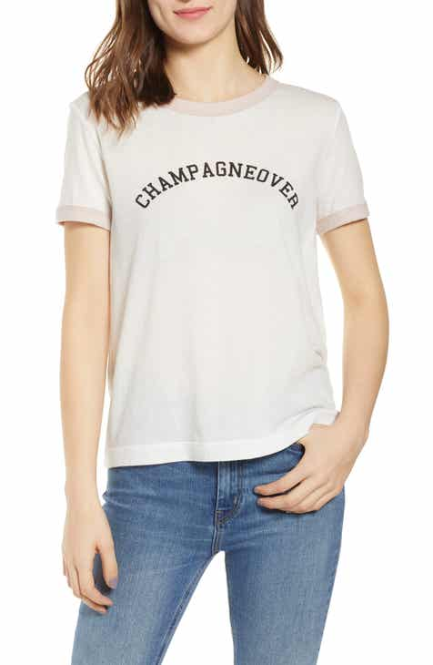 179ebd6f45d Wildfox Johnnie Champagneover Ringer Tee