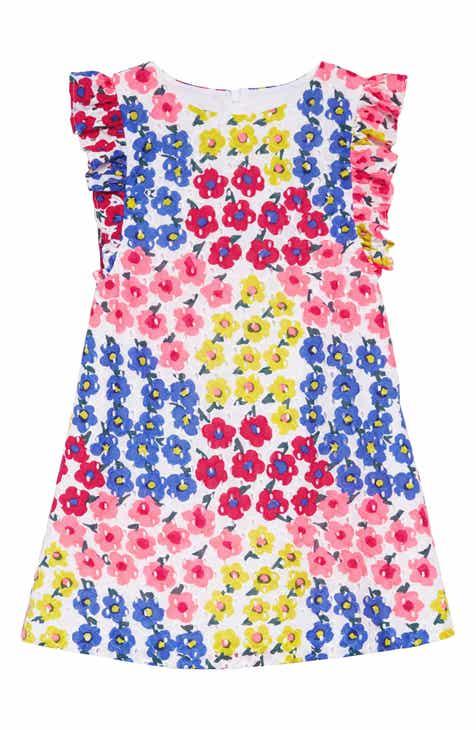 Pastourelle by Pippa & Julie Floral Flutter Sleeve Dress (Toddler Girls & Little Girls)