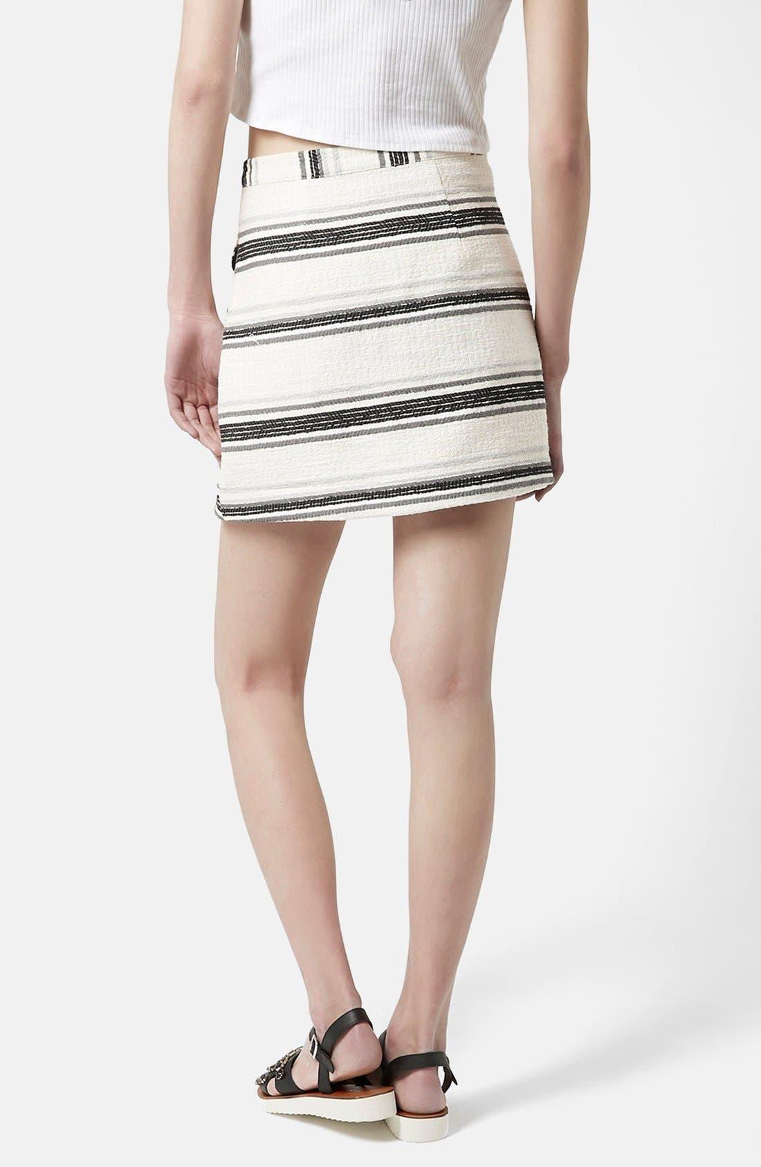 Alternate Image 2  - Topshop Zip Through A-Line Skirt (Petite)