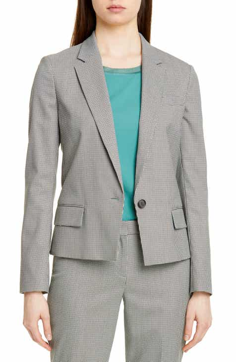 BOSS Jaseala Mini Houndstooth Jacket (Regular & Petite) by BOSS HUGO BOSS