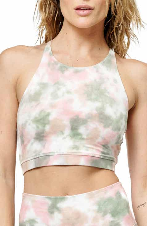 Electric & Rose Grayson Tie Dye Crop Bra by ELECTRIC AND ROSE