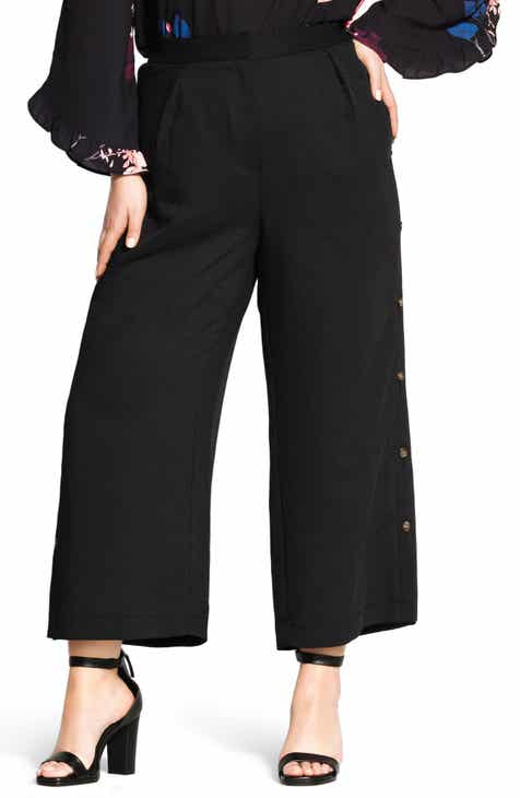 13025b83908 City Chic Sweet Button Wide Leg Pants (Plus Size)