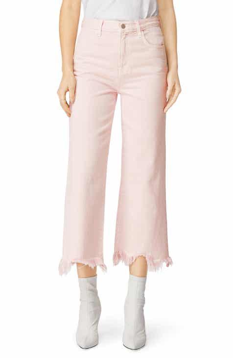 bcb287056f1a J Brand Joan High Waist Crop Wide Leg Jeans (Faded Pandora)