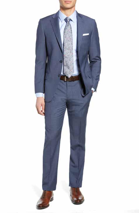 dde3c30778a Hart Schaffner Marx Brooklyn Classic Fit Solid Wool Suit