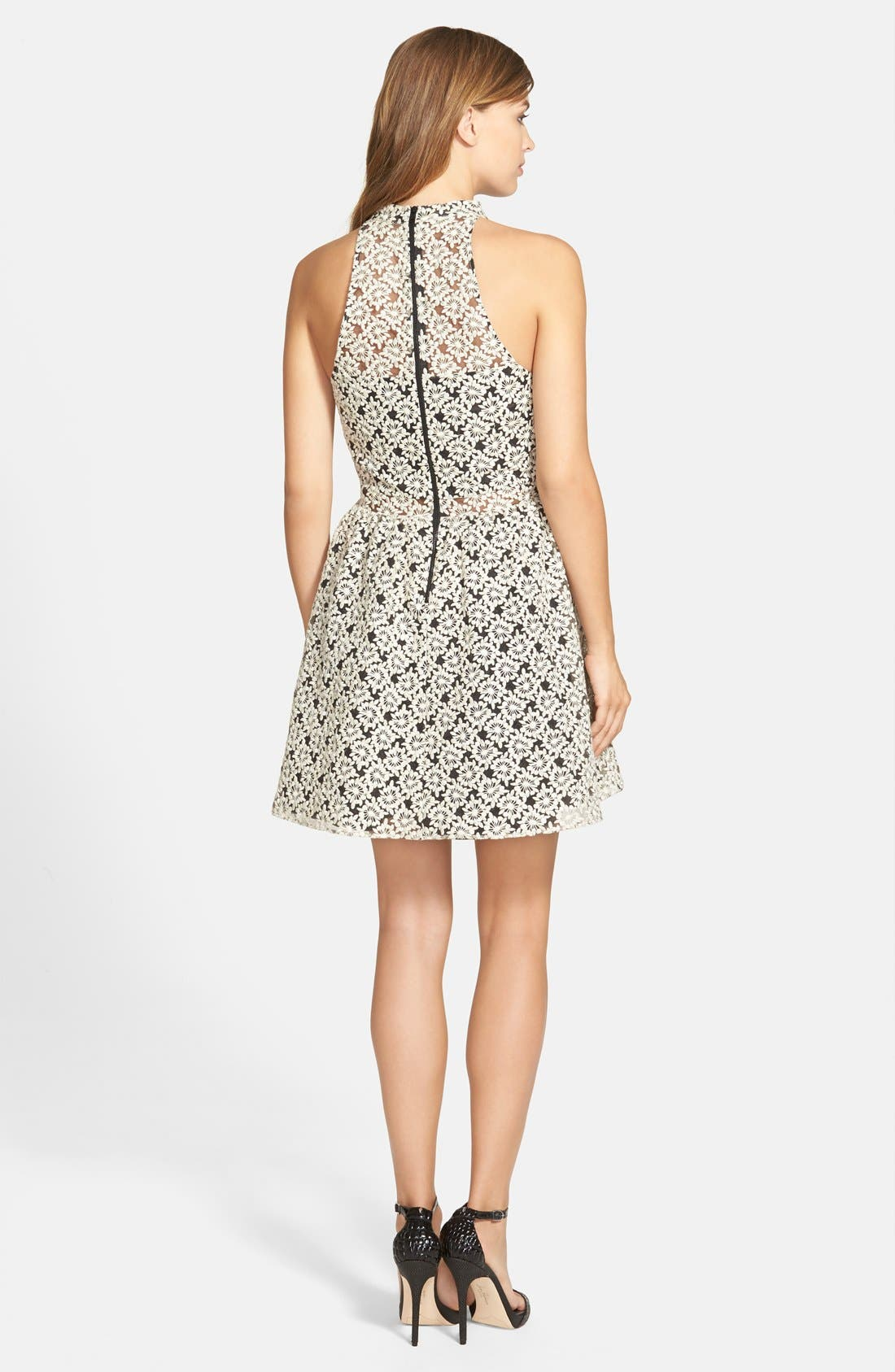 Alternate Image 2  - Sam Edelman Pleated Button Front Fit & Flare Dress