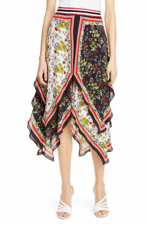 Alice + Olivia Maura Tiered Handkerchief Skirt by ALICE AND OLIVIA
