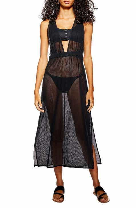 Topshop Mesh Maxi Cover-Up by TOPSHOP