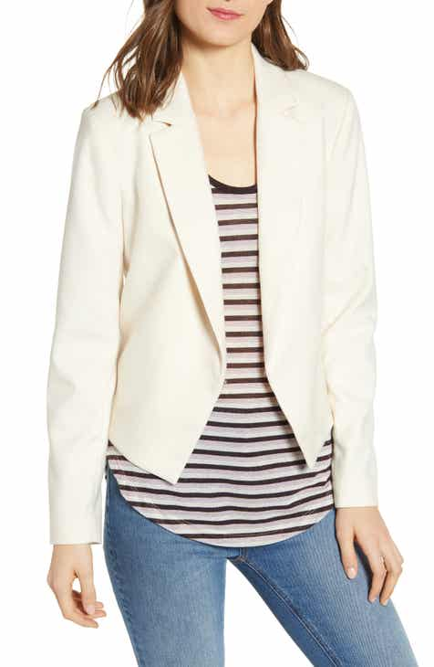 Scotch & Soda Herringbone Crop Blazer by SCOTCH AND SODA