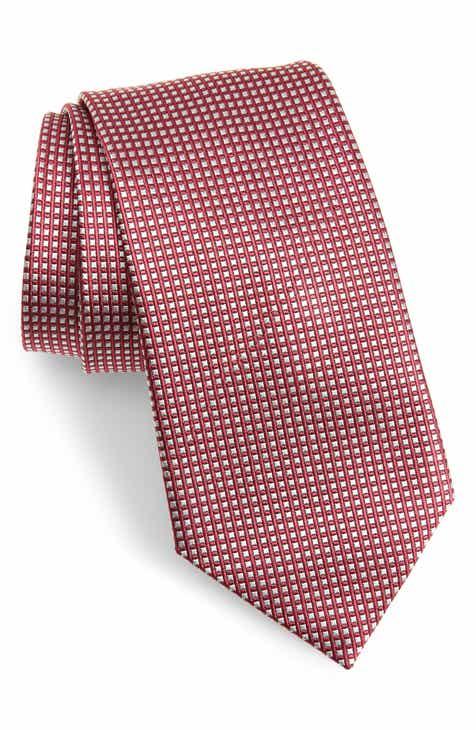 e223a56621c7 Emporio Armani Plaid Silk Tie