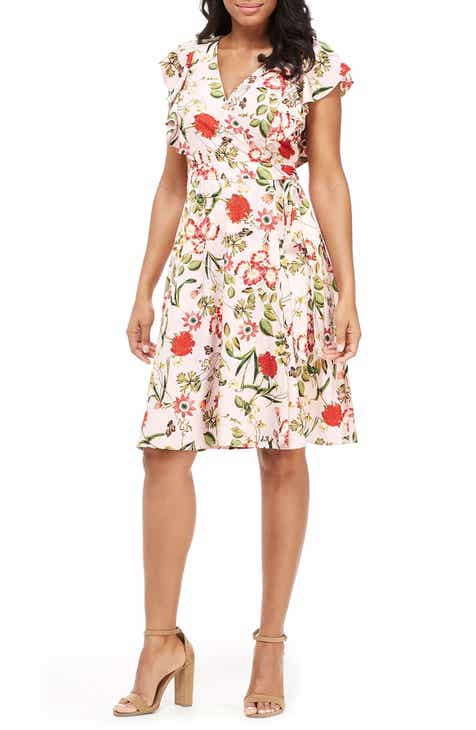 ec36f956c9a Maggy London Garden in Bloom Faux Wrap Dress