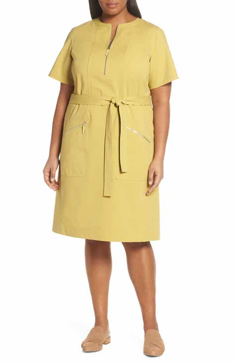 Lafayette 148 New York Elizabella Belted Dress (Plus Size) by LAFAYETTE 148