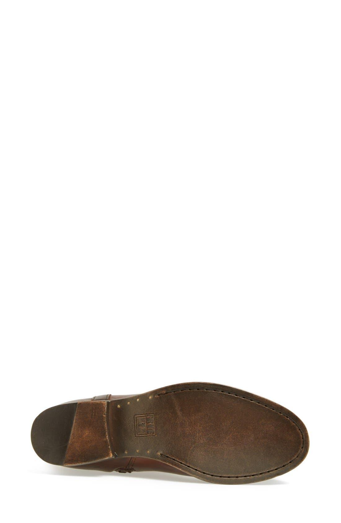 'Melissa Tab' Knee High Boot,                             Alternate thumbnail 4, color,                             Redwood Vintage Leather
