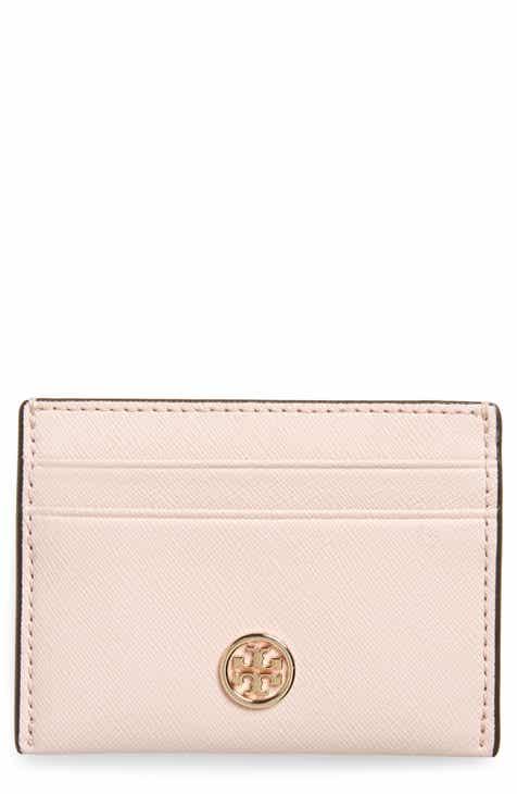 0985f13ca8d8 Tory Burch Robinson Leather Card Case