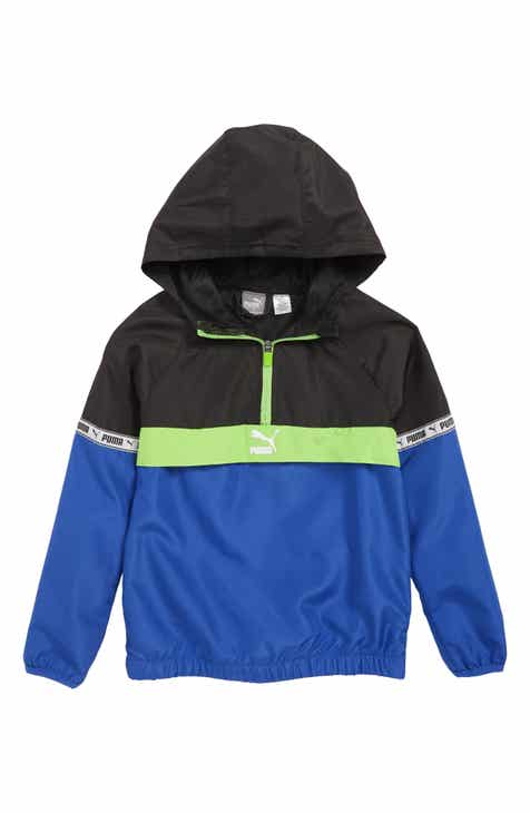 01e438227e60 PUMA Hooded Half Zip Windbreaker (Little Boys)