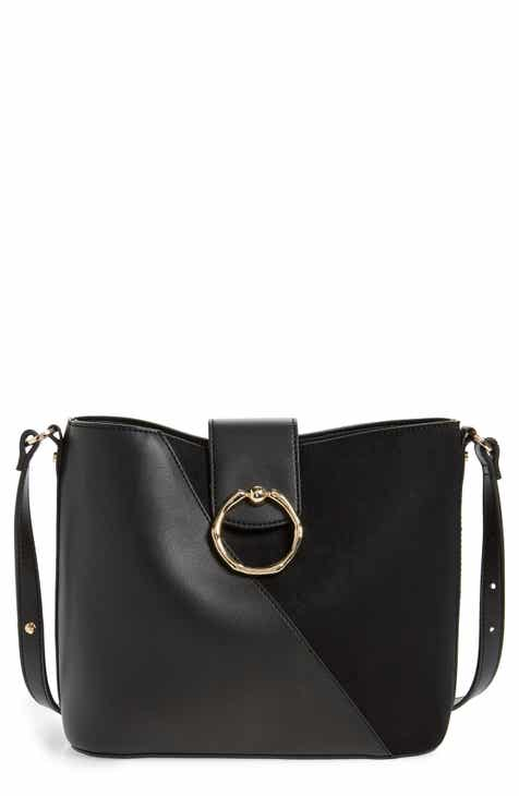 feaf6c1687f Topshop Spark Piece Faux Leather Hobo Bag