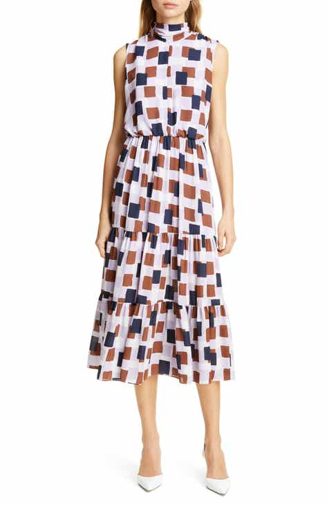 kate spade new york geo squares midi dress by KATE SPADE NEW YORK