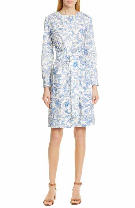 f14be6d6fde4 Tory Burch Long Sleeve Cotton Shirtdress