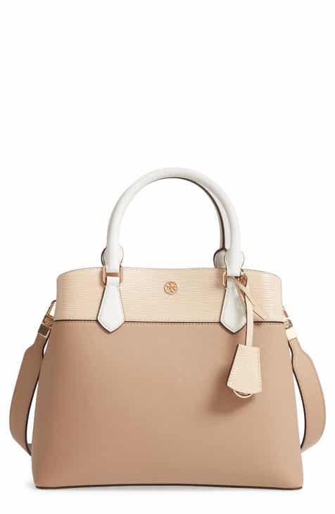 b627ff01b8d Tory Burch Robinson Colorblock Leather Triple Compartment Bag