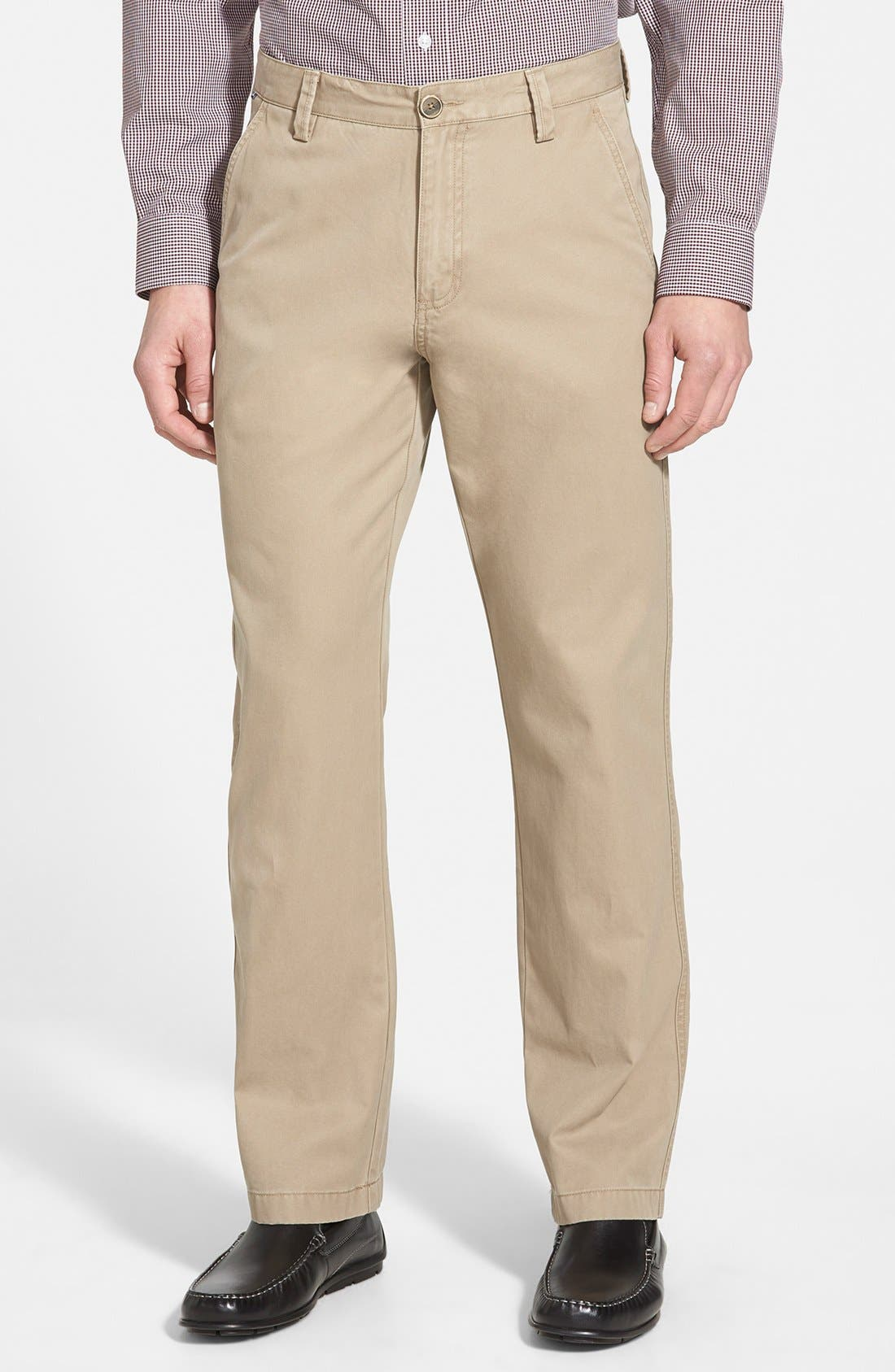 Cutter & Buck Beckett Straight Leg Washed Cotton Pants