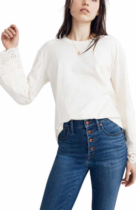 911af68f7db Madewell Embroidered Eyelet Tier Sleeve Tee