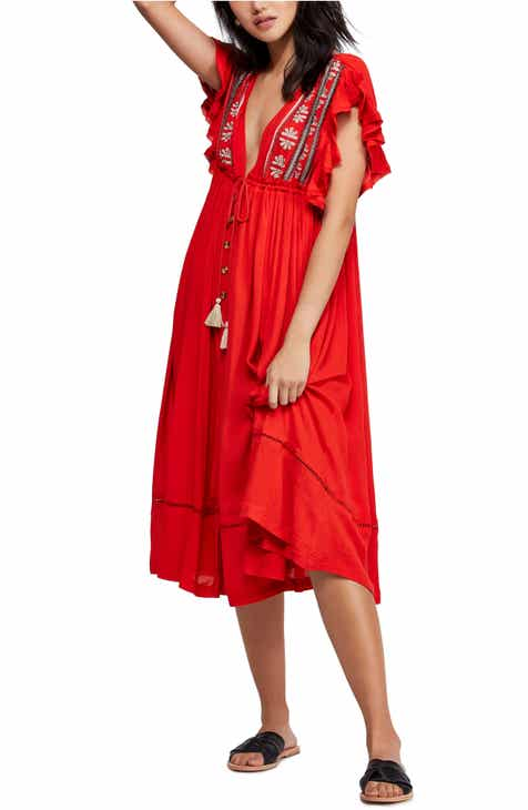 f645ea876ec Free People Will Wait For You Midi Dress