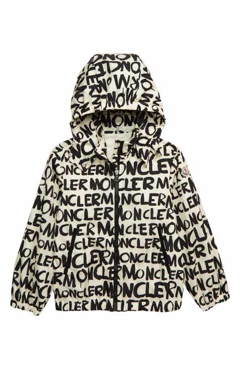 c5a4bb9fb8c0 Moncler Hanoi Logo Print Removable Hood Jacket (Big Girls)