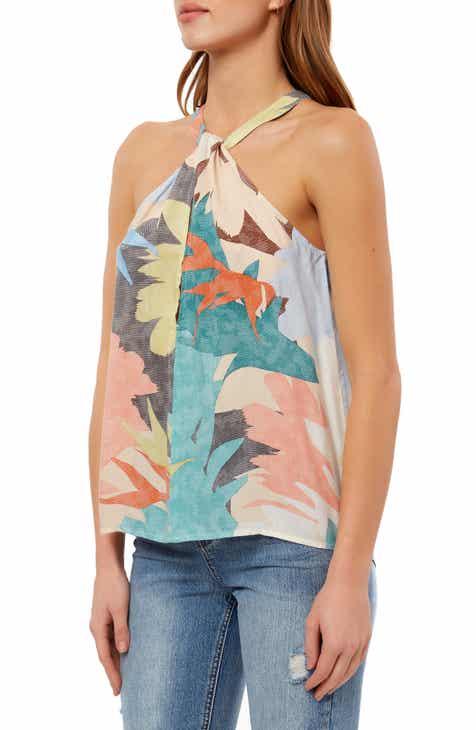 14abe10508251 O Neill Twist Neck Floral Print Tank Top