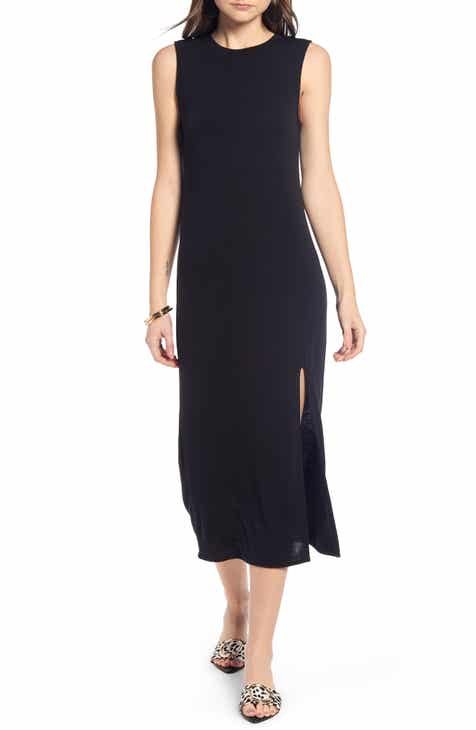 eec761568f136 Something Navy Easy Knit Midi Dress (Nordstrom Exclusive)