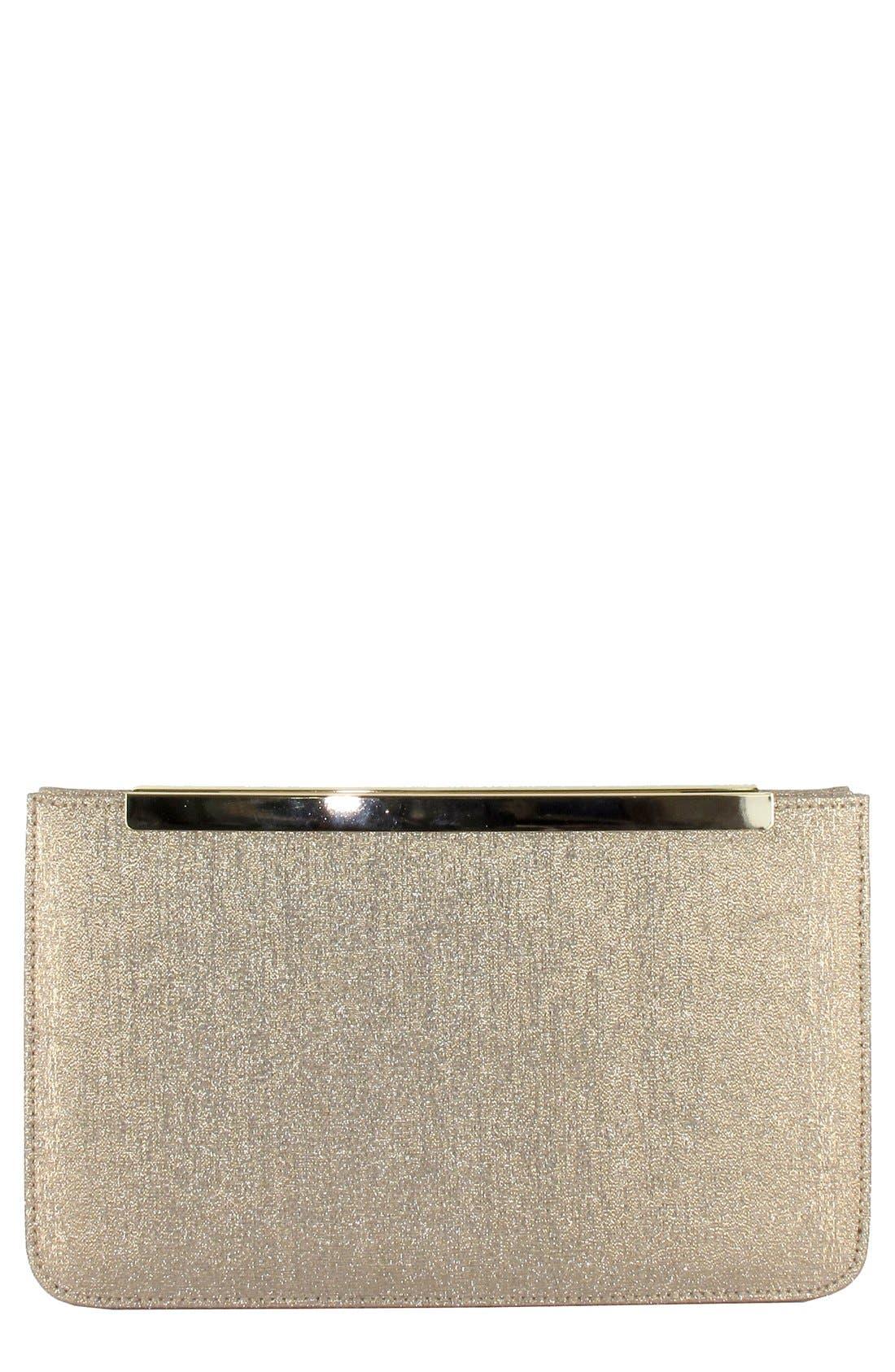Alternate Image 1 Selected - Menbur Metallic Clutch