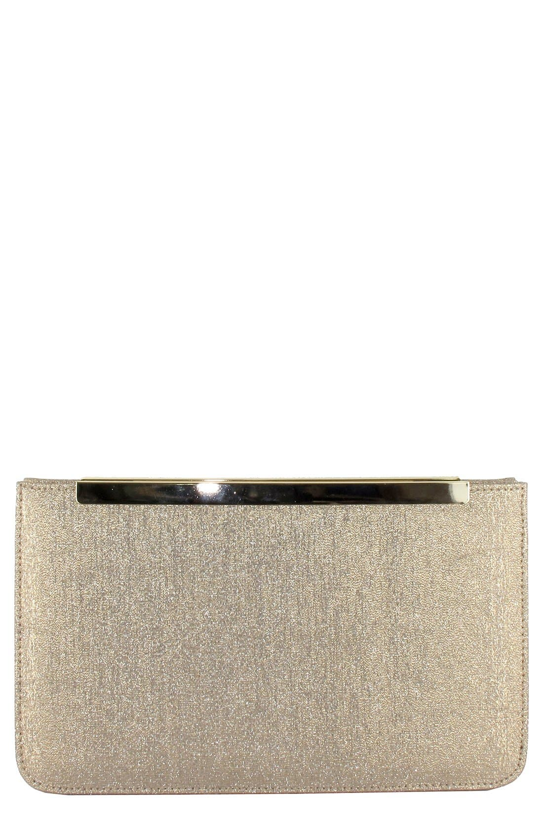 Metallic Clutch,                         Main,                         color, Sand