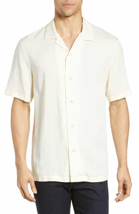 e2b1ce0f rag & bone Avery Slim Fit Short Sleeve Button-Up Camp Shirt