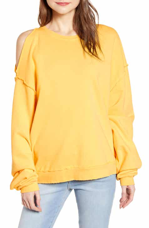 Hudson Jeans Open Shoulder Sweatshirt by HUDSON