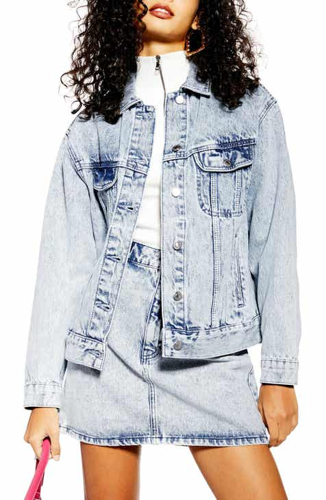 Topshop Acid Wash Denim Jacket by TOPSHOP