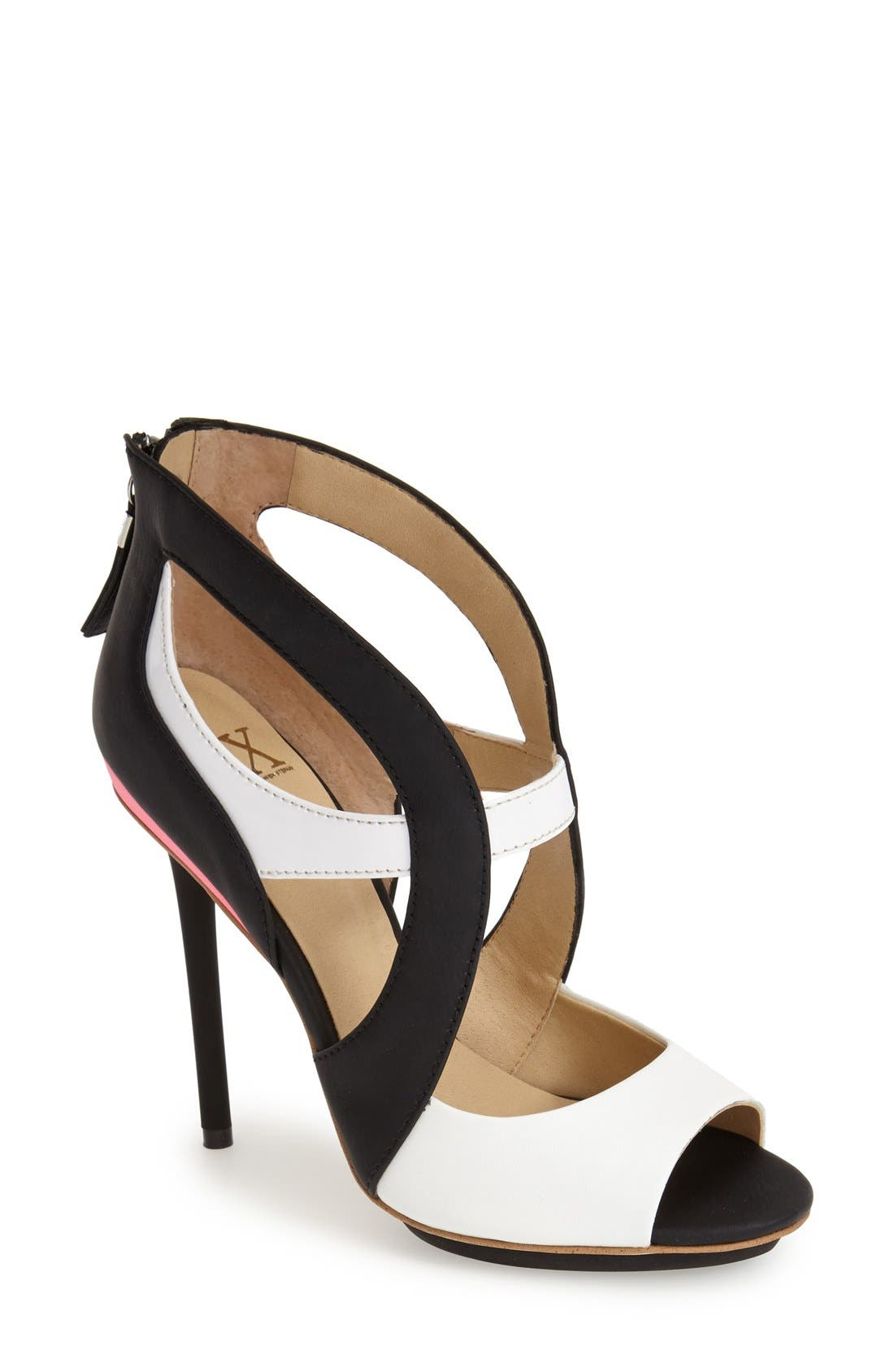 Main Image - gx by Gwen Stefani 'Dart' Colorblock Cutout Sandal (Women)