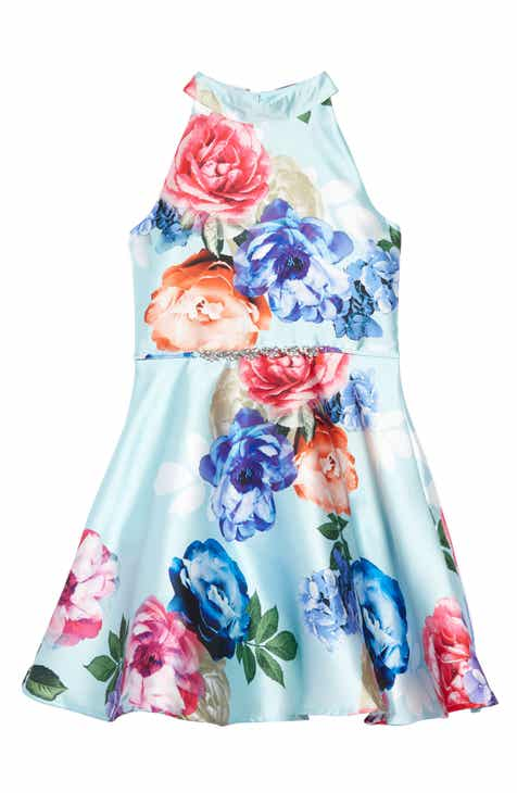 bd296a58ec8 Zunie Floral Mikado Fit   Flare Dress (Big Girls)