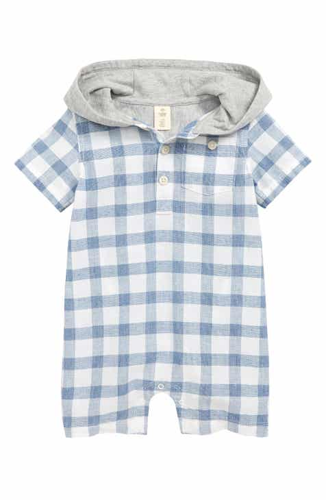 eb1955e8cdf413 Tucker + Tate Check My Favorite Hooded Romper (Baby)