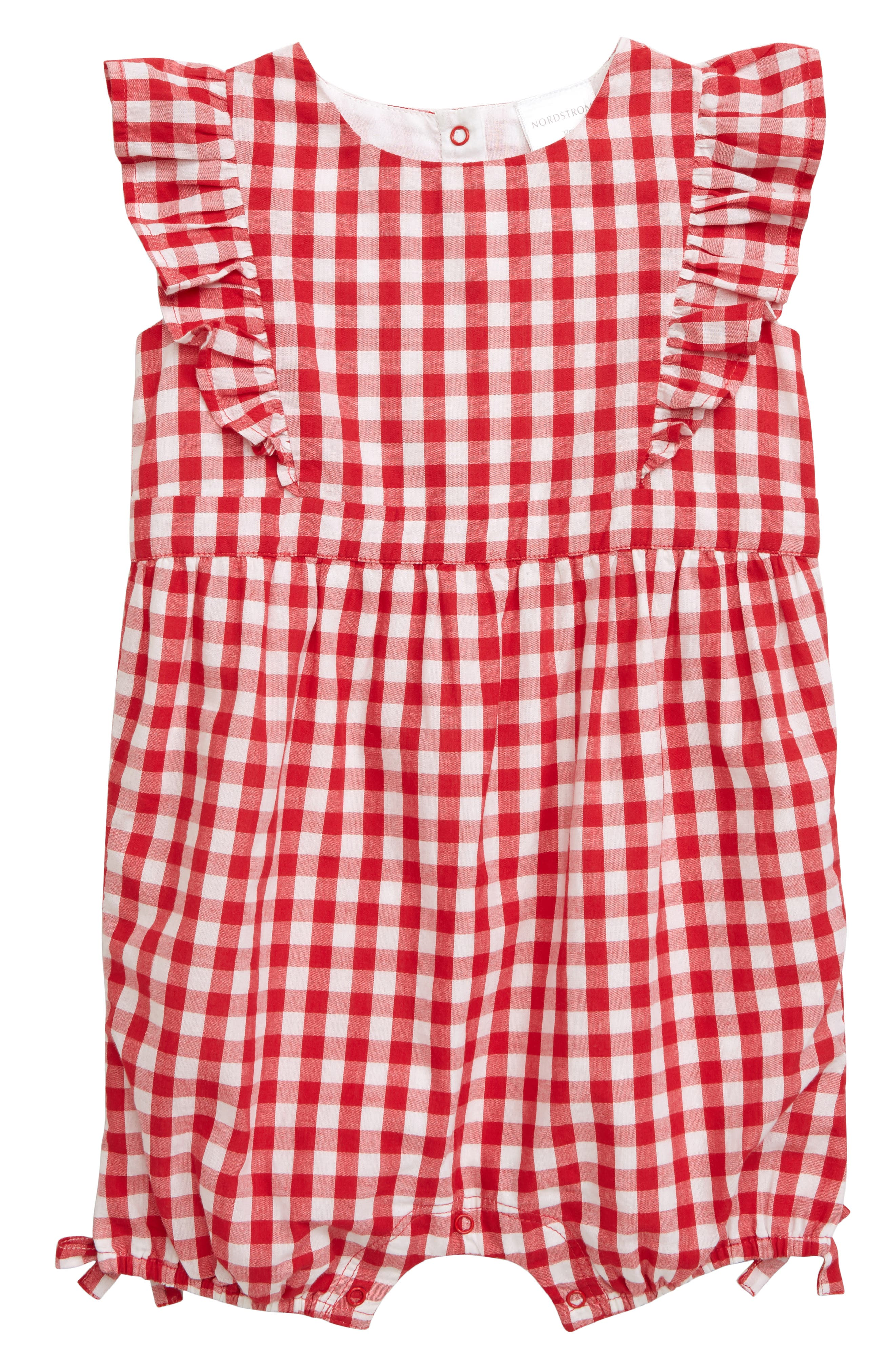 Delicious Infant Red Ice Cream Hot Red Jumpsuit Black Red Plaid Baby Girl Dress Nb-12month Comfortable And Easy To Wear One-pieces Clothing, Shoes & Accessories