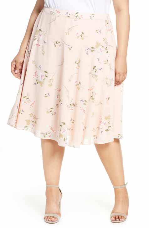 Rachel Roy Collection Floral Draped Skirt (Plus Size) by RACHEL ROY COLLECTION