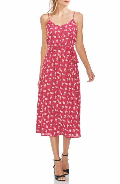 Vince Camuto Ditsy Floral Sleeveless Midi Dress