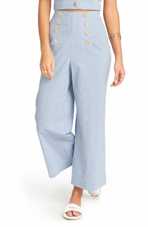 Show Me Your Mumu Stacie Gingham Stretch Cotton Sailor Pants by SHOW ME YOUR MUMU