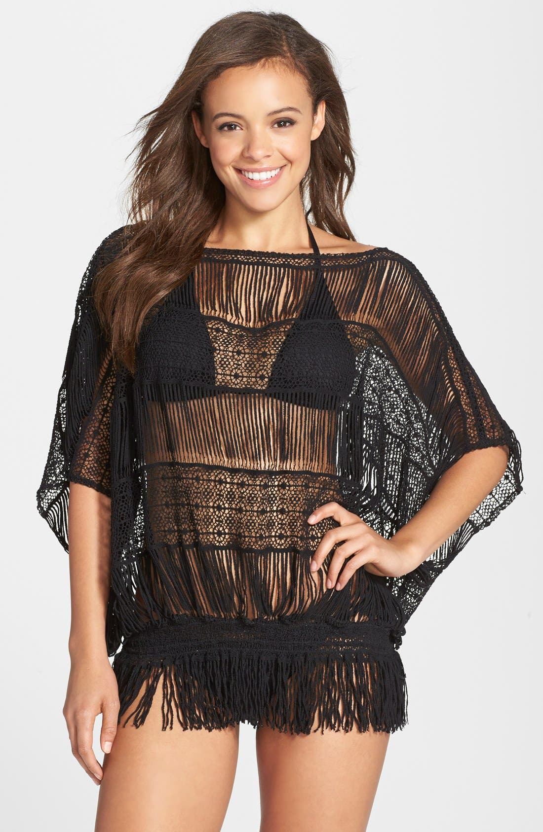 Main Image - Trina Turk French Lace Tunic Cover-Up