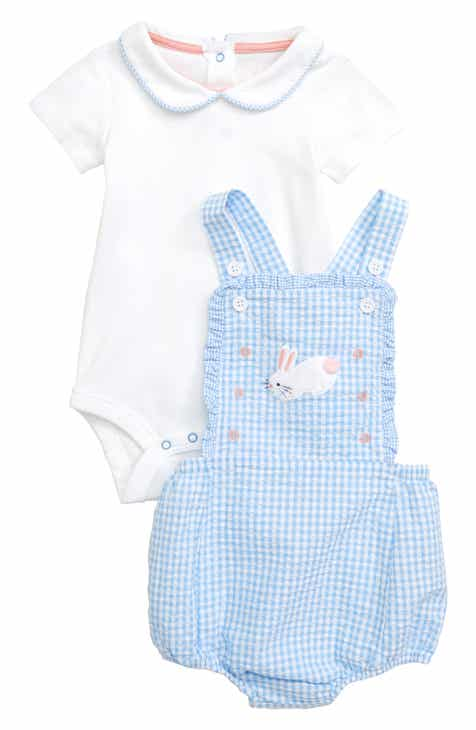 088140965f07 Mini Boden Gingham Romper   Bodysuit Set (Baby)